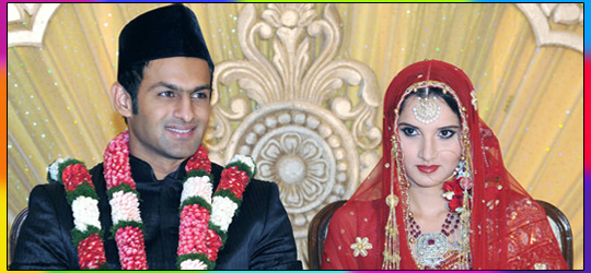 Memorable Nikah Pictures of Shoaib and Sania Mirza