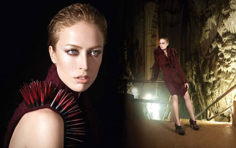 Dazzling Model Raquel Zimmermann for Animale Fall 2010