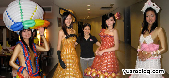 Creative Balloon Clothes and Outfits