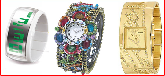 Trendy Cuff Bangle Watch Bands
