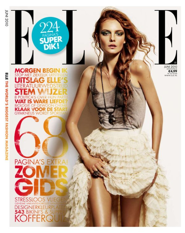 Nimue Smit Beauty for Elle Netherlands June 2010