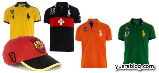 Football World Cup 2010 Shirts and Caps by Ralph Lauren