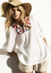 H&M White Tunic Embroided Collection Spring 2010
