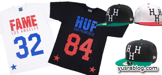 Capsule Collection Caps and Shirts by Hall of Fame x HUF