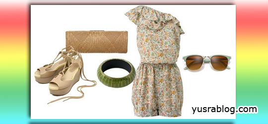 High Street Fashion with Floral Prints and Romantic Shades