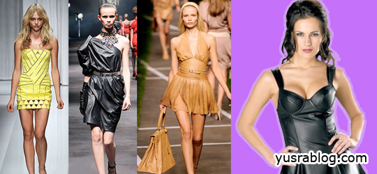 Women Leather Dress Trends for Spring Summer 2010