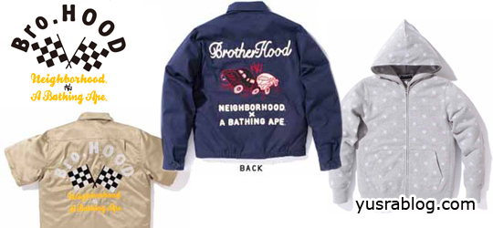 """BrotherHood"" collection by NEIGHBORHOOD x Bathing Ape (BAPE)"