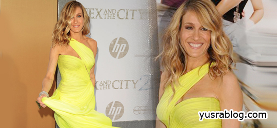 Sarah Jessica Parker Glows at Sex and The City 2 Premiere in Yellow Valentino Gown
