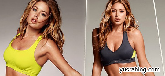 Supermodel Doutzen Kroes Victoria's Secret Exercise Dresses