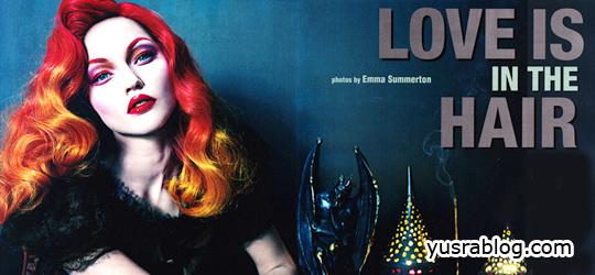 Sasha Pivovarova for Vogue Italia May 2010 – Love is in the Hair