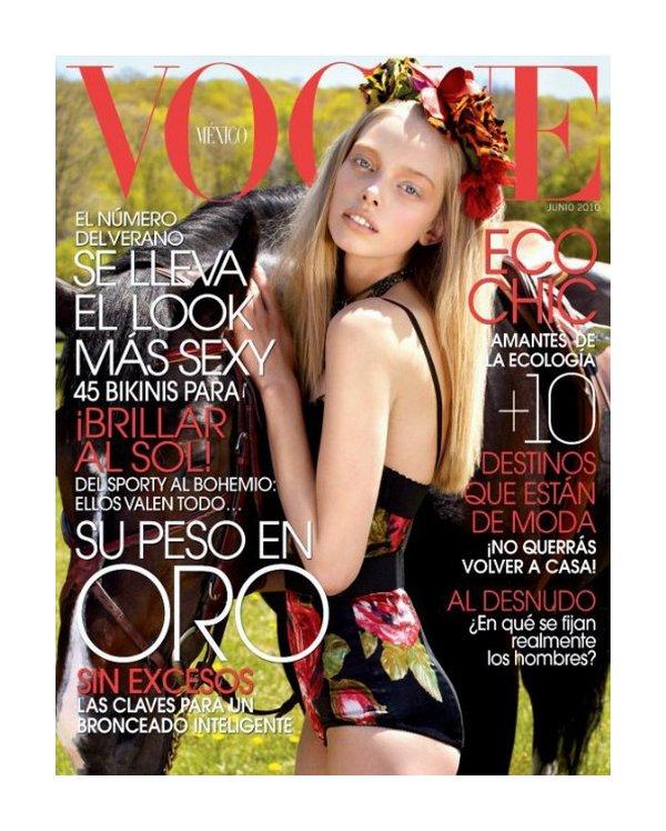 Tanya Dziahileva Face of Vogue Mexico June 2010 Cover