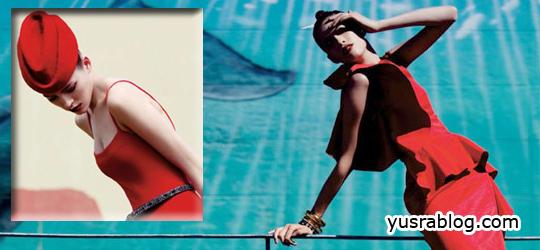 "Yulia Kharlapanova ""In the Brights"" for Elle USA June 2010"