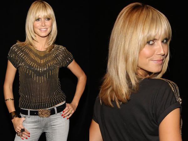 heidi klum hair. Heidi#39;s black and gold