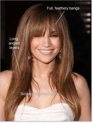 jennifer lopez haircuts bangs. Jennifer Lopez Long Hairstyle