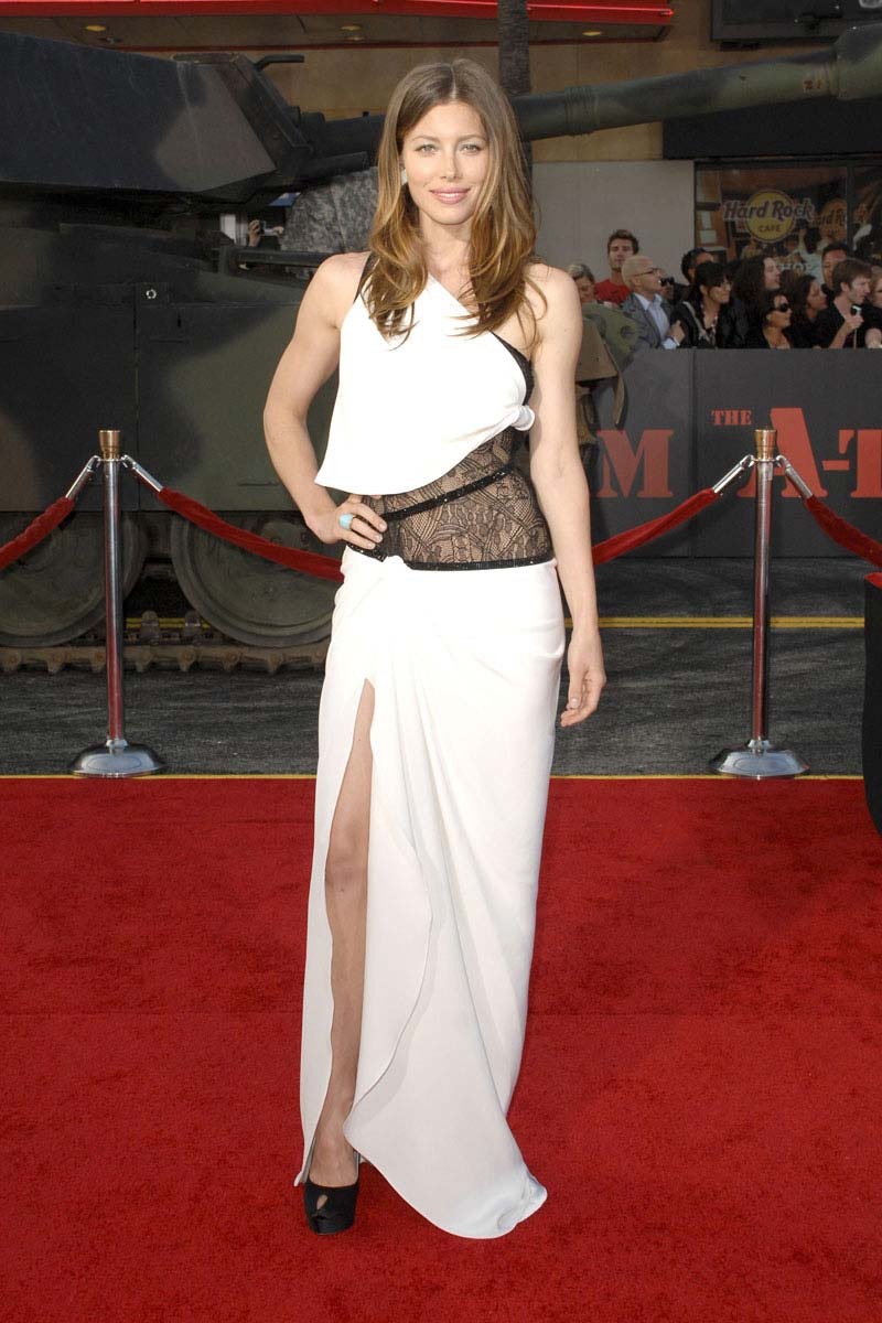Jessica Biel Red Carpet A Team Premiere Yusrablog Com