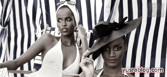 Sedene Blake and Ayan Elmi Beach Bathing for Vogue Italia June 2010 Greg Lotus