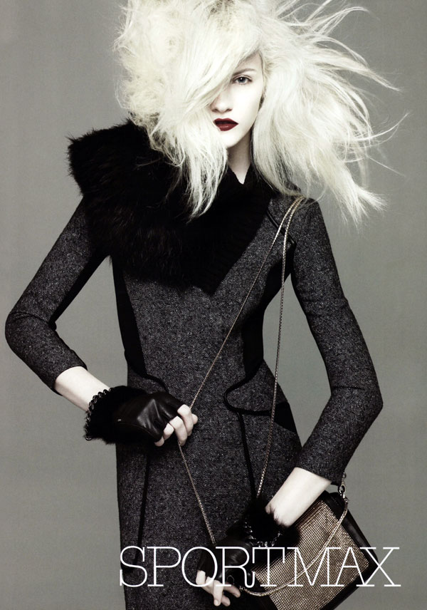 Ginta Lapina Sportmax Fall 2010 Campaign Preview David Sims