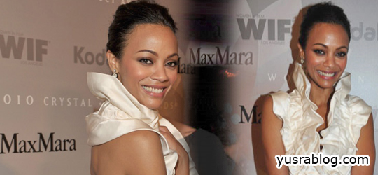 Zoe Saldana Wins 2010 Max Mara 'Face of the Future' Award