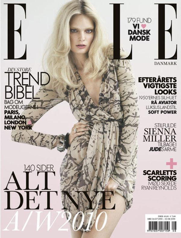 Elle Denmark August 2010 Cover – Agnete Hegelund