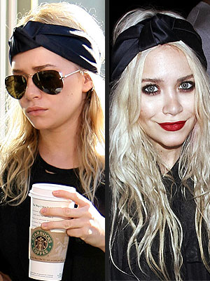 Head Scarf Fashion Trend 2010 Ashley Olsen Head Scarf Trend  Head Scarves Fashion Trend