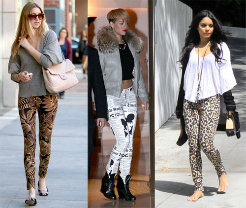 6 Printed Pants Styles - Celebrity Printed Pants Trend