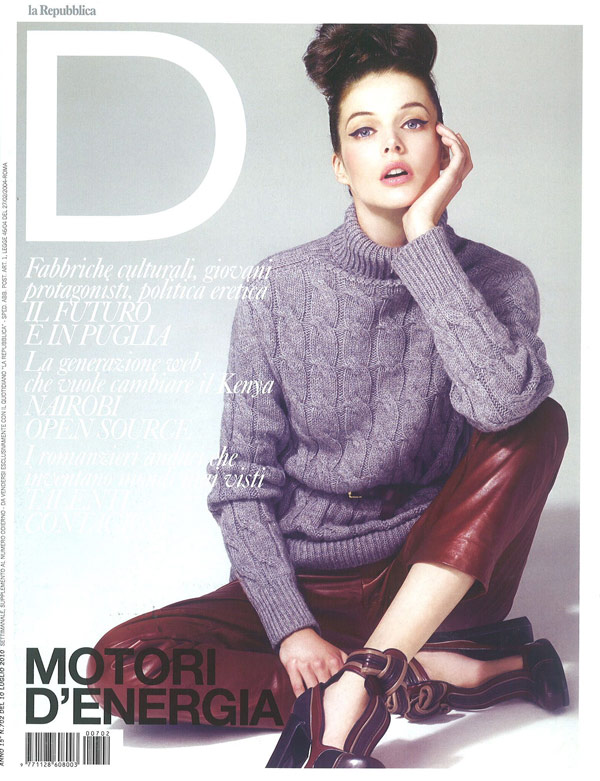 D La Repubblica July 10, 2010 Cover – Charon Cooijmans by Andrew Lee