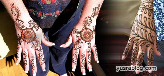 Trendy Arabic Hands Mehndi Designs