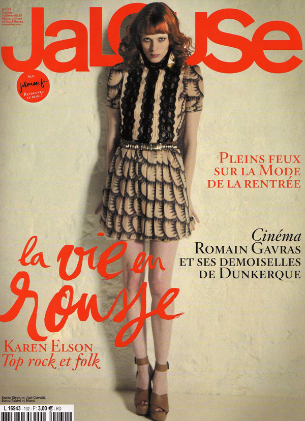 Jalouse July August 2010 Cover – Karen Elson
