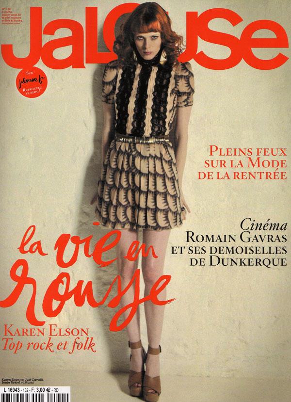 Jalouse July August 2010 Cover – Karen Elson