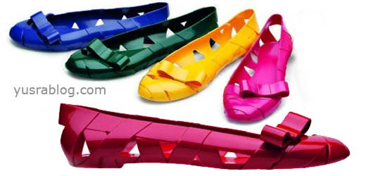 Moschino and Kartell's Bow Wow Colorful Plastic ballet Shoes Flat