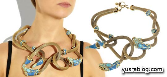 Unique Lanvin Snake Necklace Design