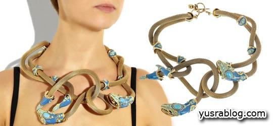 Unique Lanvin Snake Necklace Design