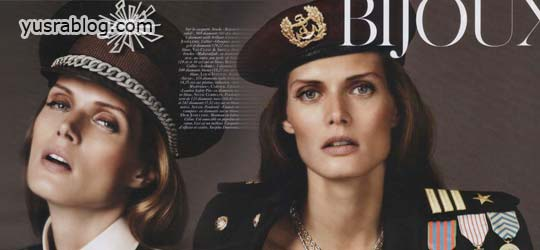 Malgosia Bela in Vogue Paris August 2010 by Josh Olins