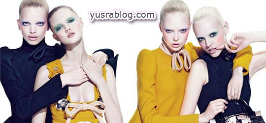 Miu Miu Fall 2010 Campaign Lindsey, Siri, Ginta by Mert and Marcus