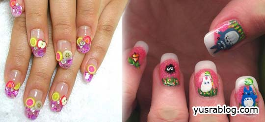 Nail Art Decoration Designs and Nail Painting Ideas