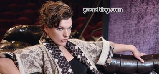 Milla Jovovich in Escada Fall 2010 Campaign by Peter Lindbergh