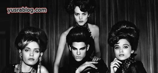 Abbey Lee, Freja Beha and Hedi in Prédateurs Numéro Homme #19 by Karl Lagerfeld