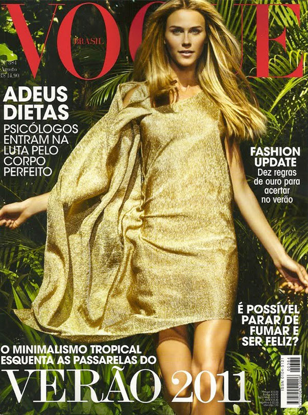 Renata Kuerten Style Vogue Brazil August 2010 Cover by Jacques Dequeker