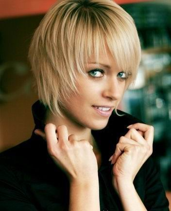 bob hairstyles with bangs. Blonde Bob Hairstyle