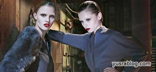 ck Calvin Klein Fall 2010 Campaign Lara Stone & Abbey Lee Kershaw by Fabien Baron