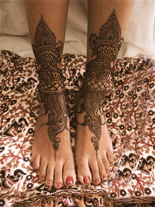 Feet Mehndi For Eid : Eid mehndi designs for foot trendy selection