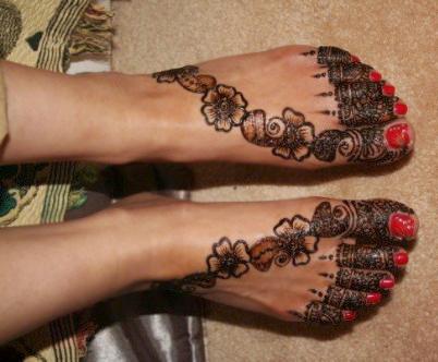 Mehndi Ankle Images : Eid mehndi designs for foot trendy selection 2010 yusrablog.com