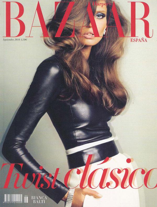 Bianca Balti by Txema Yeste Harper's Bazaar Spain September 2010 Cover