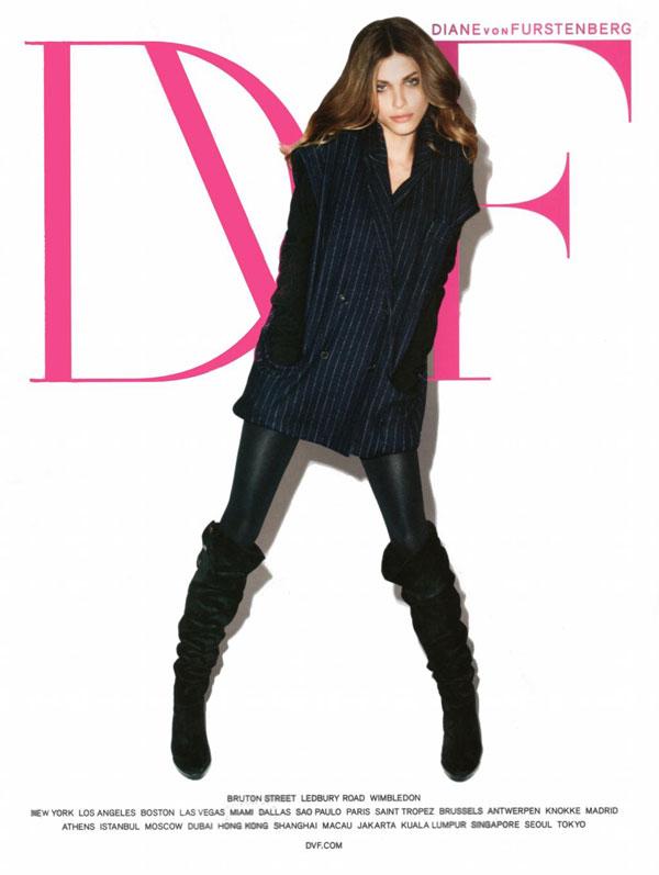 Elisa Sednaoui in Diane von Furstenberg Fall 2010 Campaign by Terry Richardson