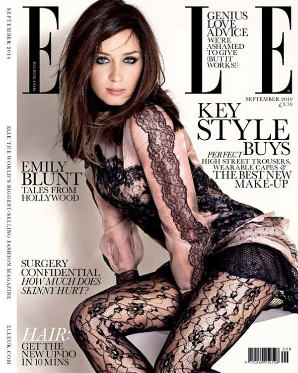 Emily Blunt by Matthias Vriens-McGrath in Elle UK September 2010 Cover