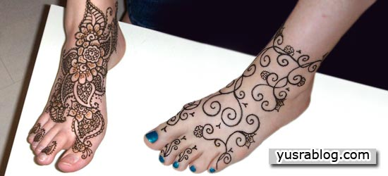 Eid Mehndi Designs for Foot Trendy Selection 2010