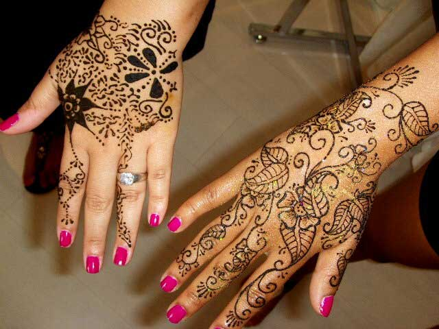 Mehndi Tattoo Flower Designs : Mehndi bridal desgins for brides dresses 2013 dulhan patterns