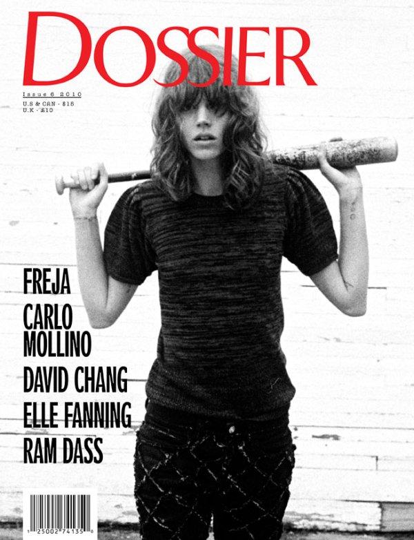 Freja Beha Erichsen for Dossier Journal FallWinter 2010 Cover by Cass Bird