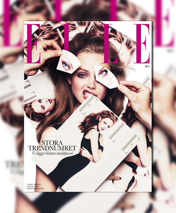 Frida Gustavvsson for Elle Sweden September 2010 Cover