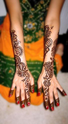 Full Arm Henna Designs: Arms And Hands Stylish Eid Mehndi Designs